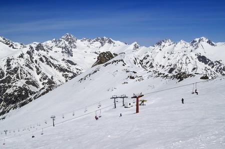 Ski slope. Caucasus, Dombay. Stock Photo - 7757790