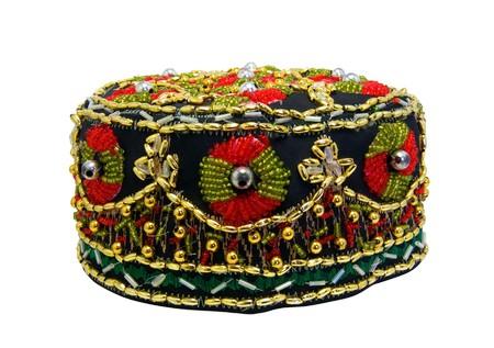 skullcap: Tubeteika isolated on white background