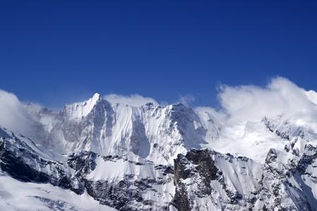 dombai: High mountains. Caucasus, Dombai.