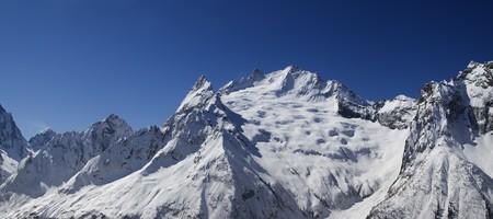 caucasus: Panorama Caucasus Mountains. Dombay.