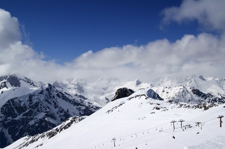 Ski resort. Caucasus, Dombay. Stock Photo - 8000523