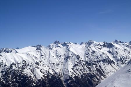 dombai: Caucasus Mountains. View from Dombai Stock Photo
