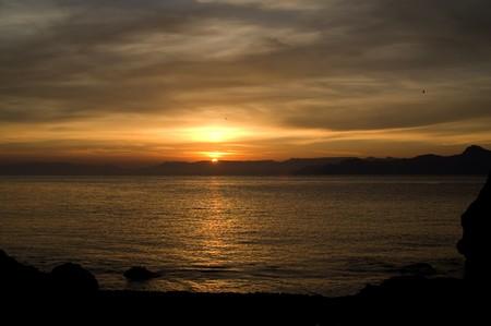 Sea sunset. Black Sea. Crimea. photo