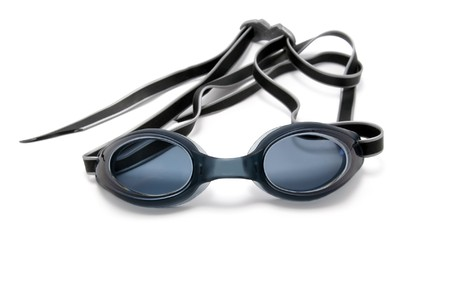 swim goggles: Goggles for swimming on white background