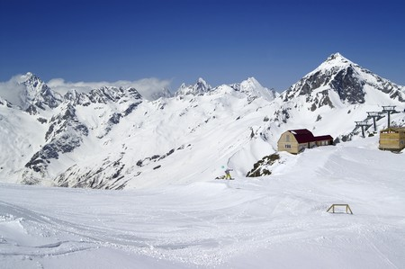 Ski resort. Caucasus Mountains, Dombay. Stock Photo - 8152869