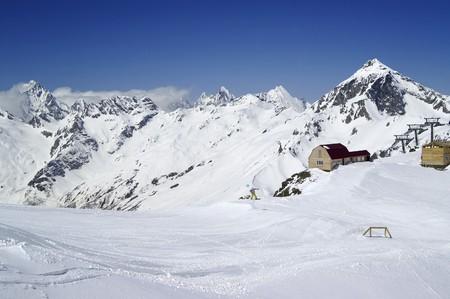 Ski resort. Caucasus Mountains, Dombay. Stock Photo - 8152869