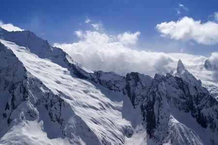 dombai: Mountains. Caucasus, Dombai.