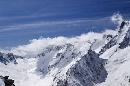 dombai: Caucasus Mountains. Dombai. Stock Photo