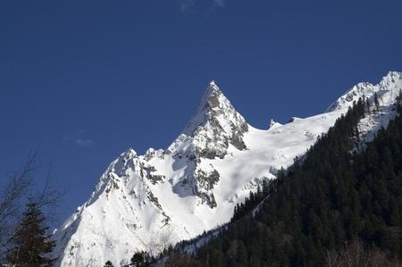 cocaine: Mountain peak. Caucasus Mountains. Dombay, peak Ine.