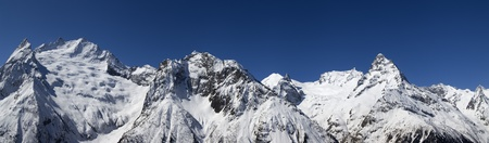 cocaine: Panorama Caucasus Mountains. Dombay. View from the ski slope