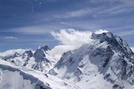 musa: Caucasus. Mount Dombai-Ulgen. View from the top of Musa Achitara.
