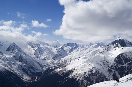 Ski resort. Caucasus Mountains, Dombay. photo
