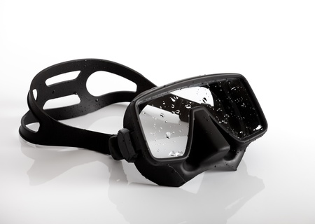 Diving mask on white background
