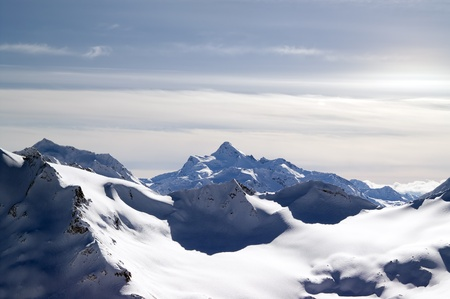 Caucasus Mountains. View from Elbrus. Stock Photo - 9921553