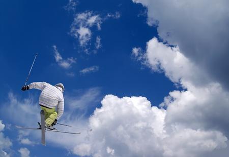 Freestyle skiing Stock Photo