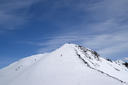 Slope for freeriding. Caucasus Mountains, ski resort Dombay, Mount Musa Achitara photo