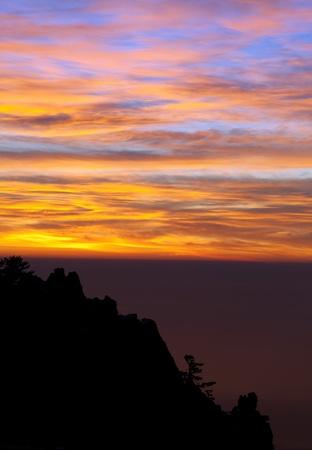 Beautiful sunset in Crimea mountains Stock Photo - 12119415