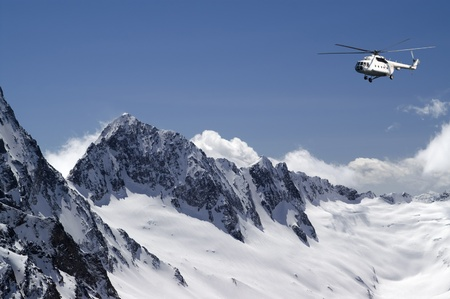 heli: Helicopter in high mountains