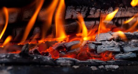 Bonfire close-up view Stock Photo - 12119423