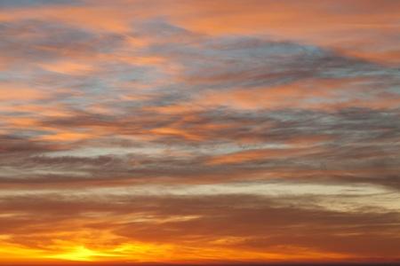 Sunrise sky over the sea photo