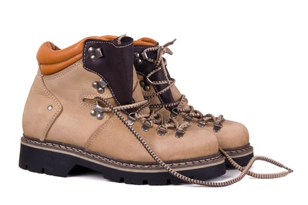 Trekking boots isolated on white background  photo