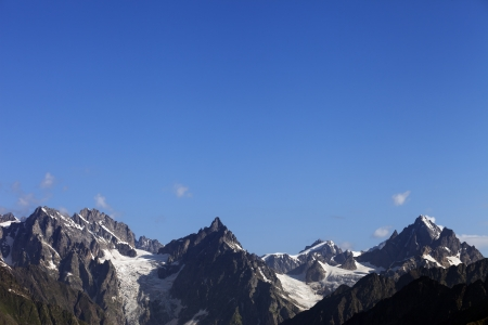 High mountains and blue sky  Caucasus Mountains  Georgia, Svaneti Stock Photo - 13866197