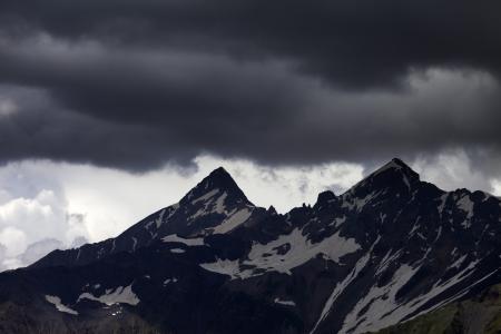 svaneti: Storm clouds in mountains  Caucasus Mountains  Georgia, Svaneti  Stock Photo