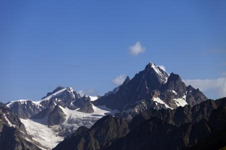 svaneti: De alta monta�a monta�as del C�ucaso de Georgia, Svaneti Foto de archivo