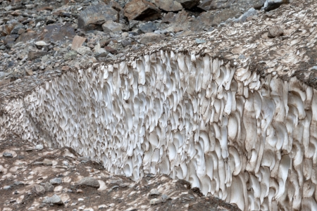 crevasse: Crevasse in glacier, close-up view
