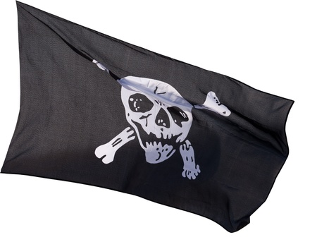 Jolly Roger (pirate flag) isolated on white background Stock Photo - 14294242