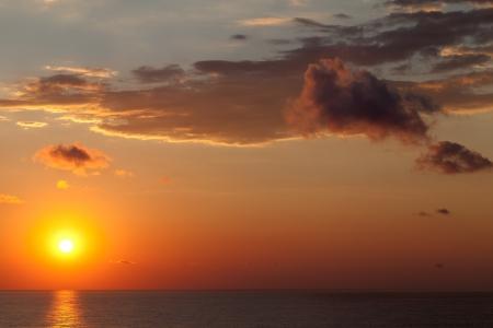 Sea at sunset  Black Sea  Crimea, Ukraine  photo
