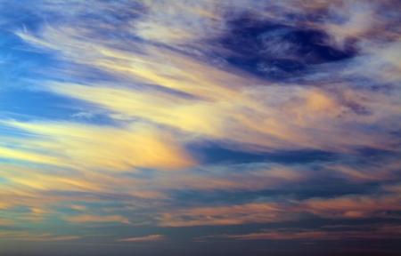 Multicolor sunrise over the sea photo