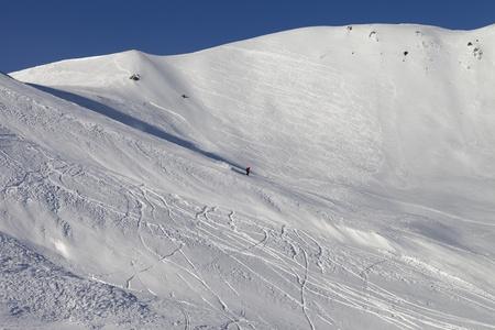 piste: Snow skiing piste  Caucasus Mountains, Georgia, ski resort Gudauri