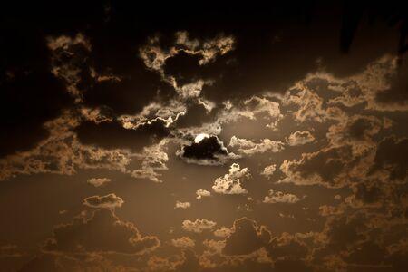 Fantastic cloudscape at sunset photo