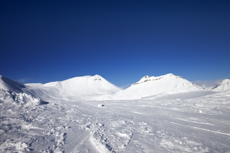 Winter mountains  Georgia, ski resort Gudauri  Caucasus Mountains Stock Photo - 14829376