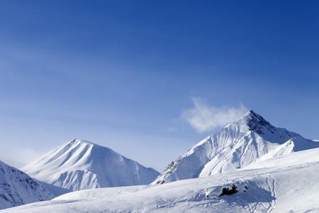 Ski slope  Georgia, ski resort Gudauri  Caucasus Mountains  photo