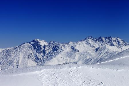 avalanche: Trace of avalanche  Caucasus Mountains, Georgia, Gudauri