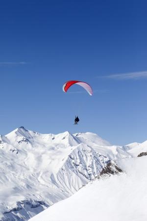 Speed riding in Caucasus Mountains  Georgia, ski resort Gudauri