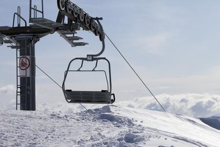 Ropeway on ski resort  Caucasus Mountains, Georgia, Gudauri Stock Photo - 15295671