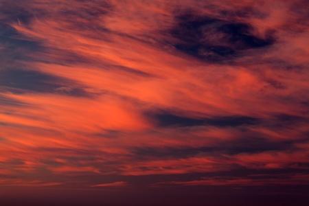 Fiery sunrise over the sea Stock Photo - 15305229