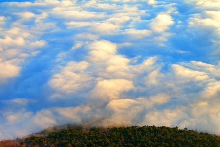 Fantastic island in clouds  Bird Stock Photo - 16451745