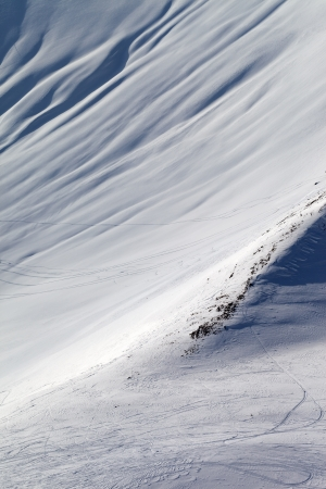 offpiste: View on off-piste slope  Caucasus Mountains, Georgia, ski resort Gudauri