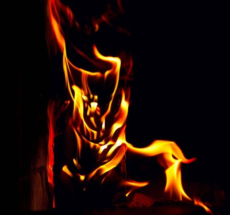 Flame on black background Stock Photo - 17504418