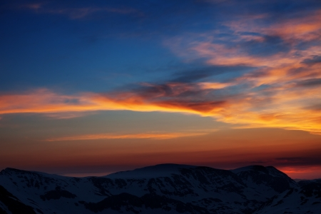 Beautiful sunrise in mountains  Turkey, Central Taurus Mountains, Aladaglar  Anti-Taurus  view from plateau Edigel photo