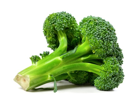 Broccoli isolated on white background. Close-up view. photo