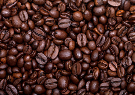 Roasted coffee beans background Foto de archivo