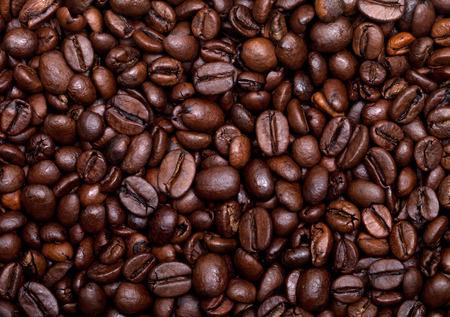 Geroosterde koffiebonen achtergrond