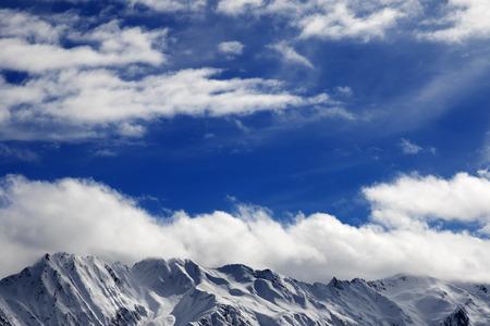 Winter snow mountains at nice sunny day. Caucasus Mountains. Georgia, region Svaneti. Stock Photo