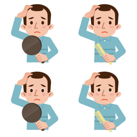baldness: Problemas de adelgazamiento del cabello Vectores