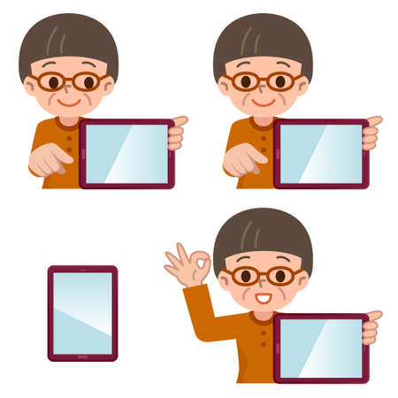 woman computer: Vector illustration.Original paintings and drawing.